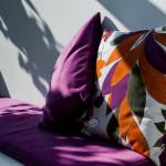 Rilassarsi sui comodi cuscini della veranda di Tre Casiedde