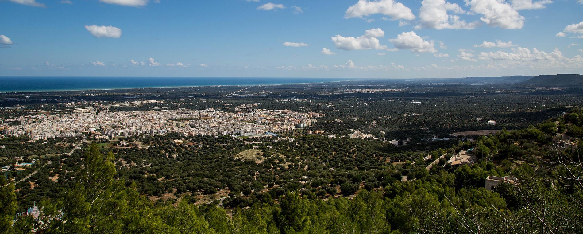 Punto panoramico nella Valle d'Itria