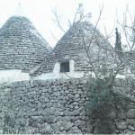 Trulli antichi e muretto della casa vacanze Tre Casiedde