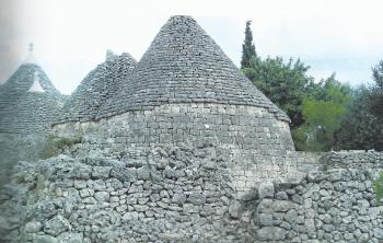 Trullo antico della casa vacanze Tre Casiedde