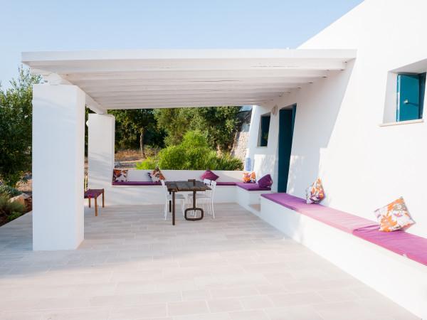 Veduta della veranda principale - Tre Casiedde Casa Vacanze in Puglia