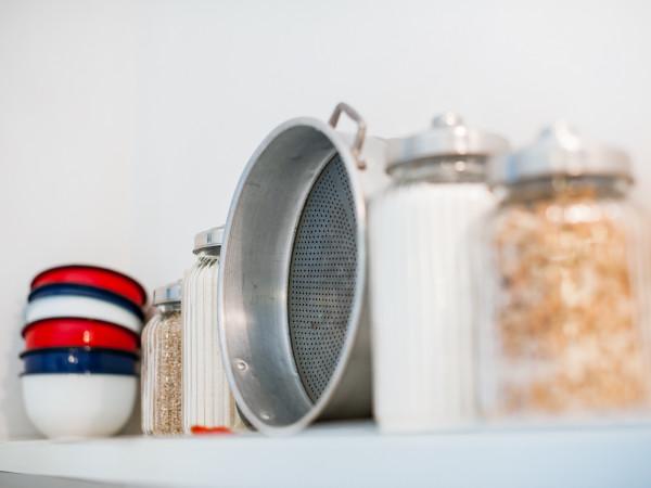 Un po' di sale nella cucina della casa vacanze Tre Casiedde
